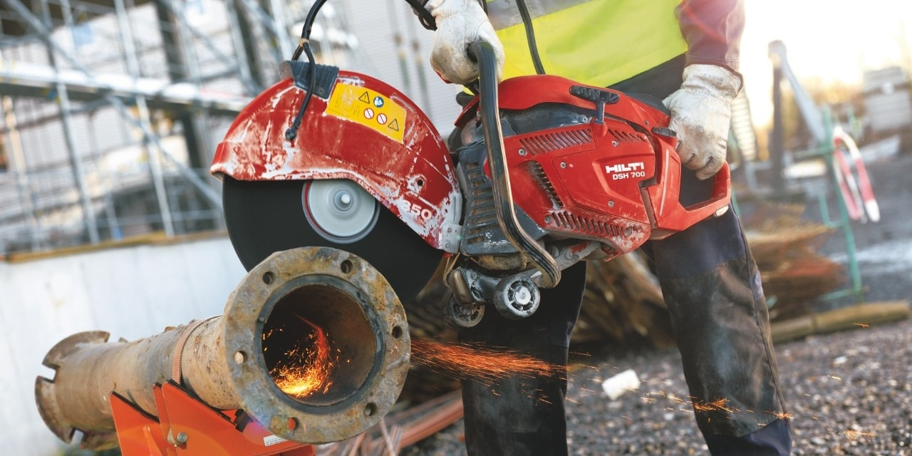 Hilti DSH-X gas saw range easy start- technology