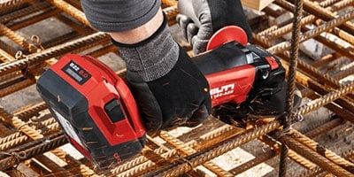 Hilti batteries have a reinforced outercasing to protect against damage